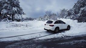 Zimy bajka patrzeje po śnieżyca natury piękna Zdjęcia Royalty Free