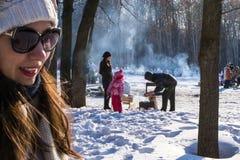 Zimy BBQ obrazy stock
