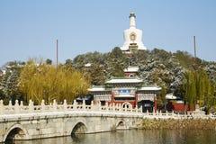 Zimy Beihai park, Pekin Zdjęcie Royalty Free