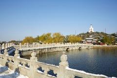 Zimy Beihai parka panorama, Pekin Zdjęcie Royalty Free
