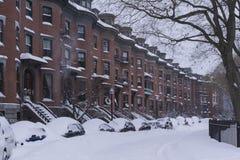 Zimy burza Juno: South End Obraz Stock