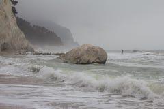 Zimy burza na morzu Zdjęcia Stock
