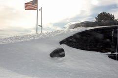 Zimy burza Nowy Jork fotografia stock