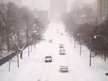 Zimy burza uderza Toronto obraz royalty free