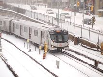 Zimy burza uderza Toronto obrazy royalty free