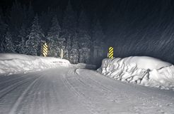 Zimy burzy Kolorado droga Zdjęcie Stock