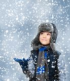 Zimy chłopiec Fotografia Royalty Free