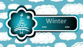 Zimy choinki i ładowania chmury ilustracji