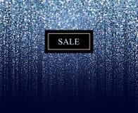 Zimy cząsteczki sprzedaży tło Fotografia Stock