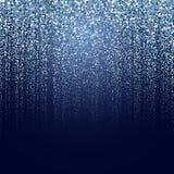 Zimy cząsteczki tło Obrazy Royalty Free