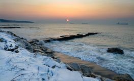 Zimy Czarny morze obraz stock
