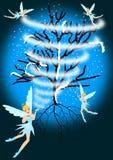 Zimy czarodziejka ilustracji
