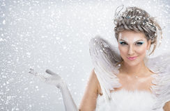 Zimy czarodziejka Obraz Royalty Free