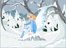 Zimy czarodziejka royalty ilustracja