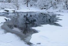 Zimy czarodziejki rzeka Zdjęcie Stock
