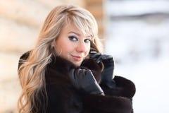 Zimy dama Zdjęcie Stock