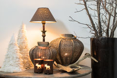 Zimy domowa dekoracja obrazy royalty free