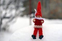Zimy drewniana lala Zdjęcia Stock
