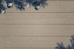 Zimy drewniany tło Zdjęcia Stock