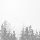 Zimy drewno Zdjęcie Stock
