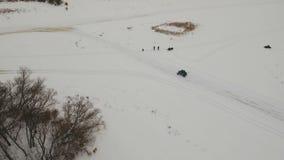 Zimy drogi ścigać się zbiory