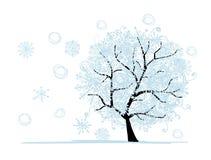 Zimy drzewo dla twój projekta. Bożenarodzeniowy wakacje. ilustracji