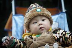 Zimy dziecka płacz fotografia royalty free