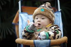 Zimy dziecka płacz obrazy stock