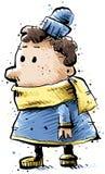 Zimy dziecko ilustracja wektor