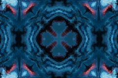 Zimy fantazji abstrakta tło Kalejdoskopowy geometryczny ornament Dekoracyjny poligonalny mozaika wzór ilustracji