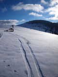 Zimy góra Fotografia Royalty Free