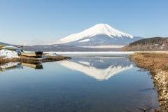 Zimy góry Fuji Yamanaka jezioro Zdjęcie Stock