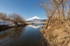 Zimy góry Fuji Yamanaka jezioro Zdjęcia Stock