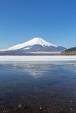 Zimy góry Fuji Yamanaka jezioro Obraz Royalty Free
