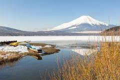 Zimy góry Fuji Yamanaka jezioro Obrazy Stock