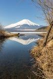 Zimy góry Fuji Yamanaka jezioro Fotografia Royalty Free