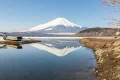 Zimy góry Fuji Yamanaka jezioro Obrazy Royalty Free