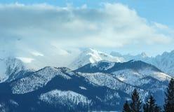 Zimy góry krajobraz Sistani, Wysoki Tatras (,). Zdjęcia Stock