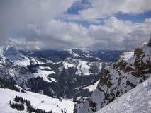 Zimy góry krajobraz w Austria Obrazy Royalty Free