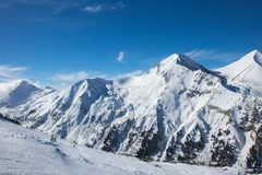 Zimy góry krajobrazu góra Pirin fotografia royalty free