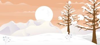 Zimy gry tło ilustracji