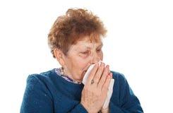 Zimy grypa zdjęcie royalty free