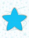 Zimy gwiazda Obrazy Royalty Free