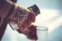 Zimy herbaciany przyjęcie Obrazy Royalty Free