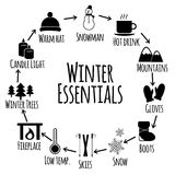 Zimy ikony wektorowy set Zdjęcia Royalty Free