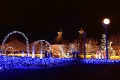 Zimy iluminacja w Mie, Japonia Fotografia Stock
