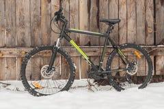 Zimy jechać na rowerze Zdjęcia Royalty Free
