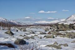 Zimy Jotunheimen park narodowy Obraz Royalty Free