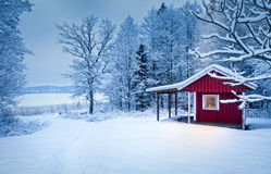Zimy kabina Obraz Royalty Free