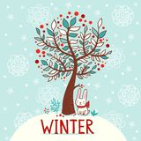Zimy karta Obraz Stock